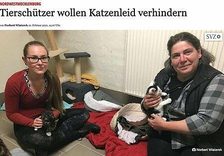 10. Februar 2021 | Gadebusch Rehnaer Zeitung | Tierschützer wollen Katzenleid verhindern