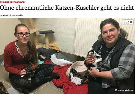 26. Juli 2020 | Gadebusch Rehnaer Zeitung | Ohne ehrenamtliche Katzen-Kuschler geht es nicht