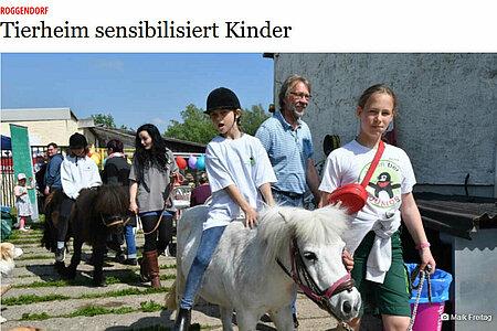 "20. Mai 2019 | ""Tierheim sensibilisiert Kinder"""